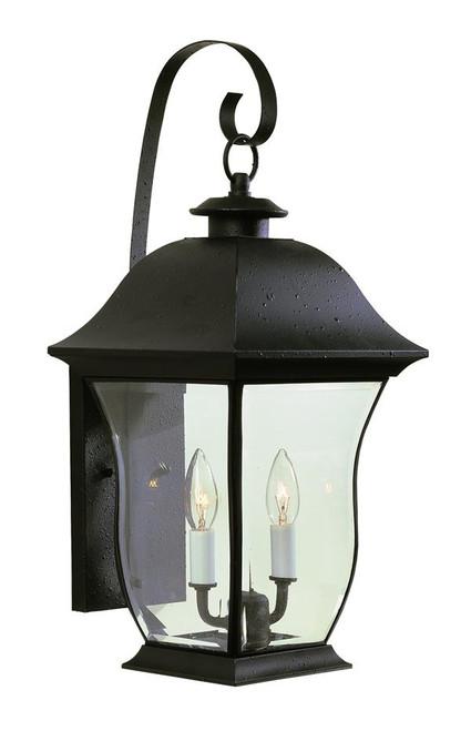 Classic Hanging 2 Light Wall Lantern 4971BK (shown in black)