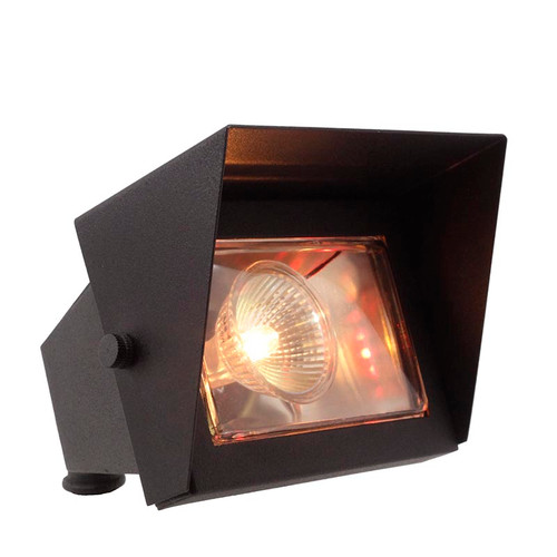 LED Brass Floodlight with Shield LE111 in Black