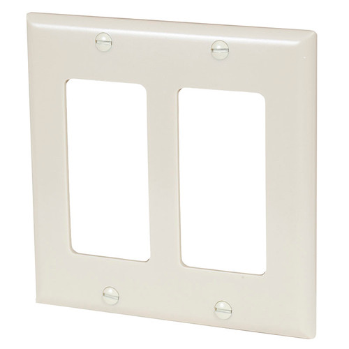 Cooper Two Gang Wall Plate Ivory