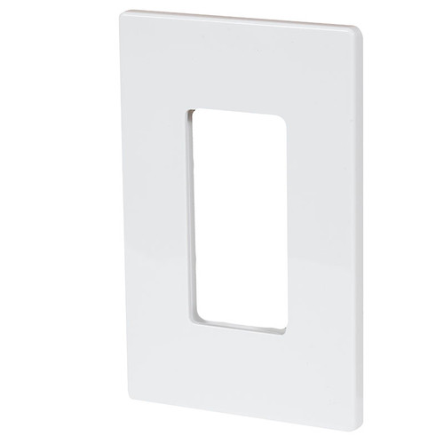 Aspire Screwless Single Gang Wall Plate ASP-9521 White Satin