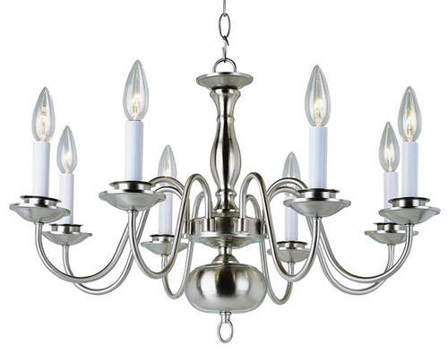8 light williamsburg chandelier brushed nickel 8 light williamsburg chandelier 10081bn nickel aloadofball Image collections
