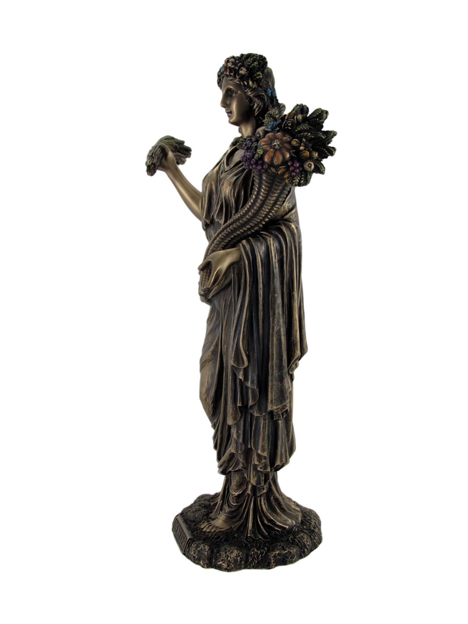 Greek Goddess of Harvest Demeter Bronzed Statue