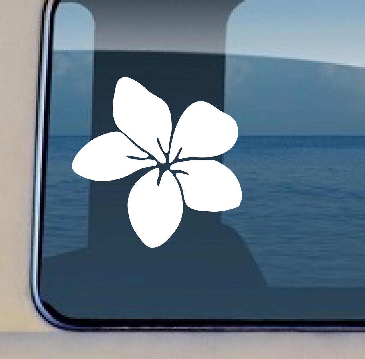 Plumeria decal hawaiian flower sticker by aloha maui creations buy now plumeria aloha maui creations izmirmasajfo