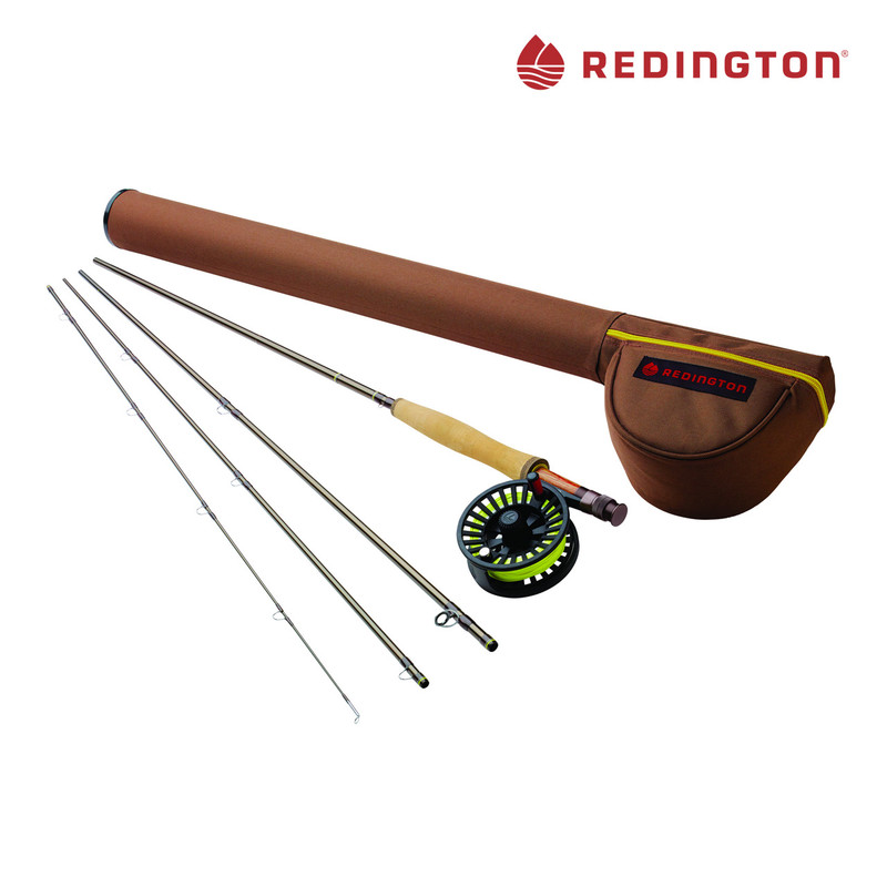 Redington Path Fly Fishing Outfit Showing Rod, Reel, Fly Line and Rod and Reel Tube
