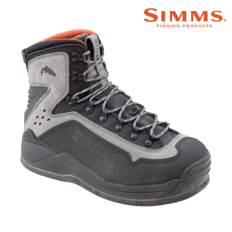 Simms G3 Guide Boot Felt Sole Front and Side View