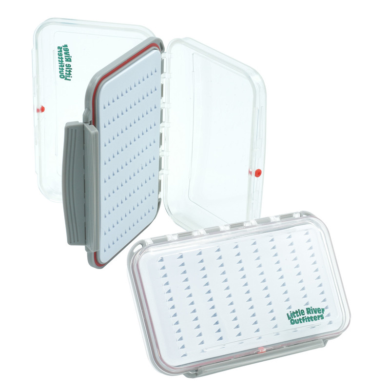 Two LRO Two-Sided Clear Waterproof Medium Fly Box AS660 One Open and One Closed