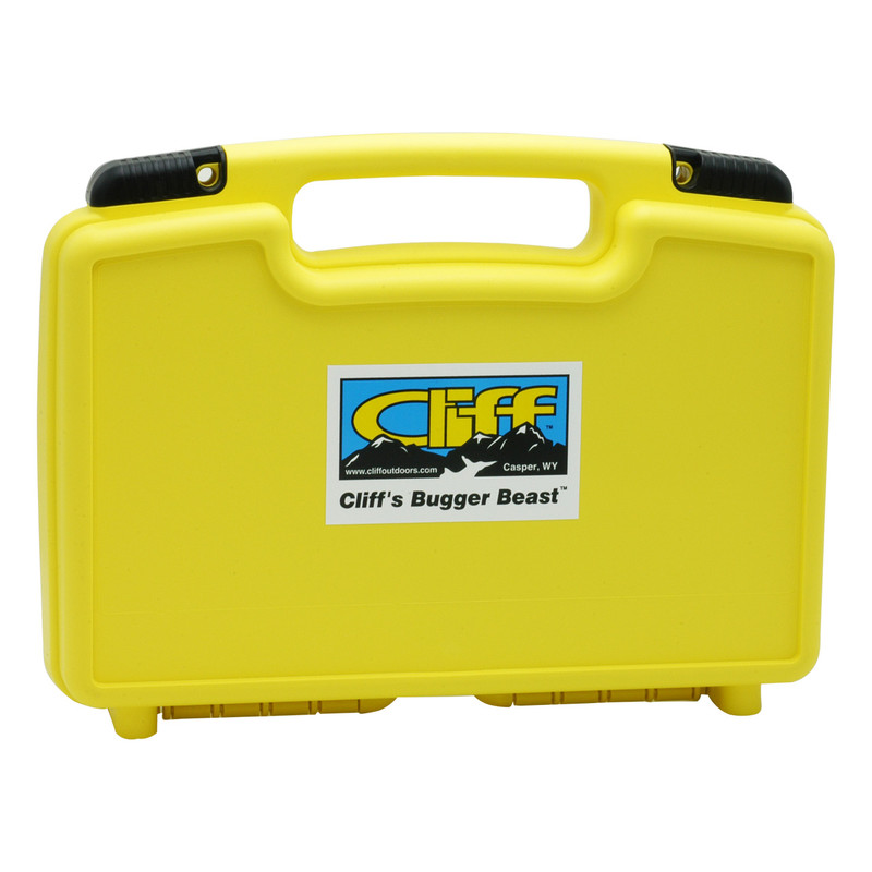 Cliff Bugger Beast Fly Box Shown Closed Top View