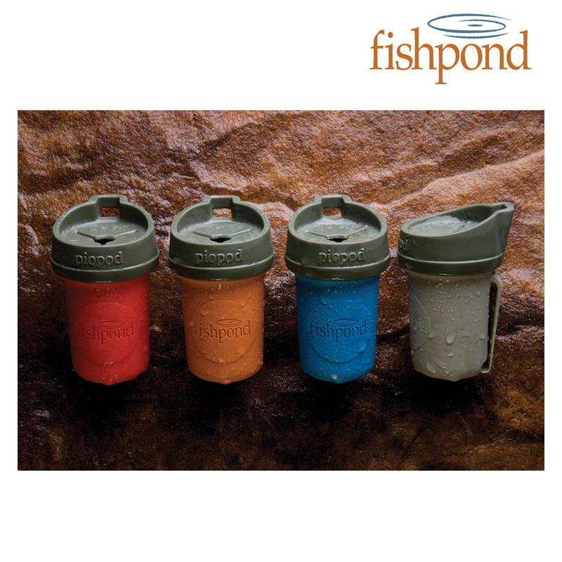 Fishpond Piopod Microtrash Container shown in assorted colors.