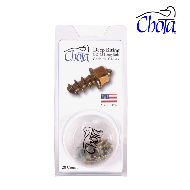 Chota Long Rifle Cleats Show Packaged