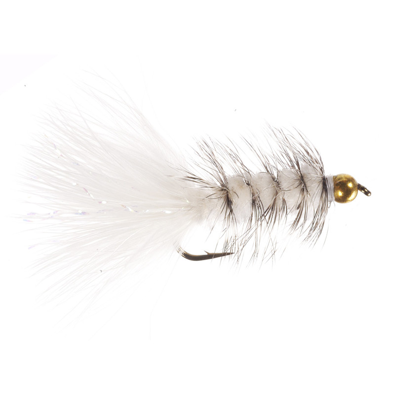Bead Head Wooly Bugger White/Grizzly