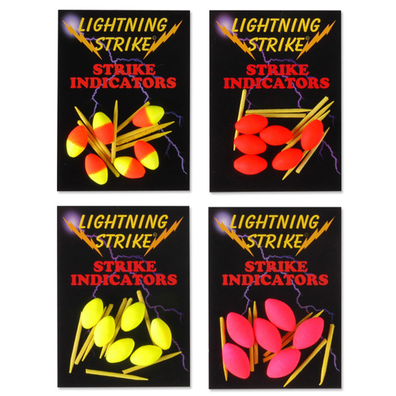 Lightning Strike Football Indicators with Pegs Showing All Colors with Packages