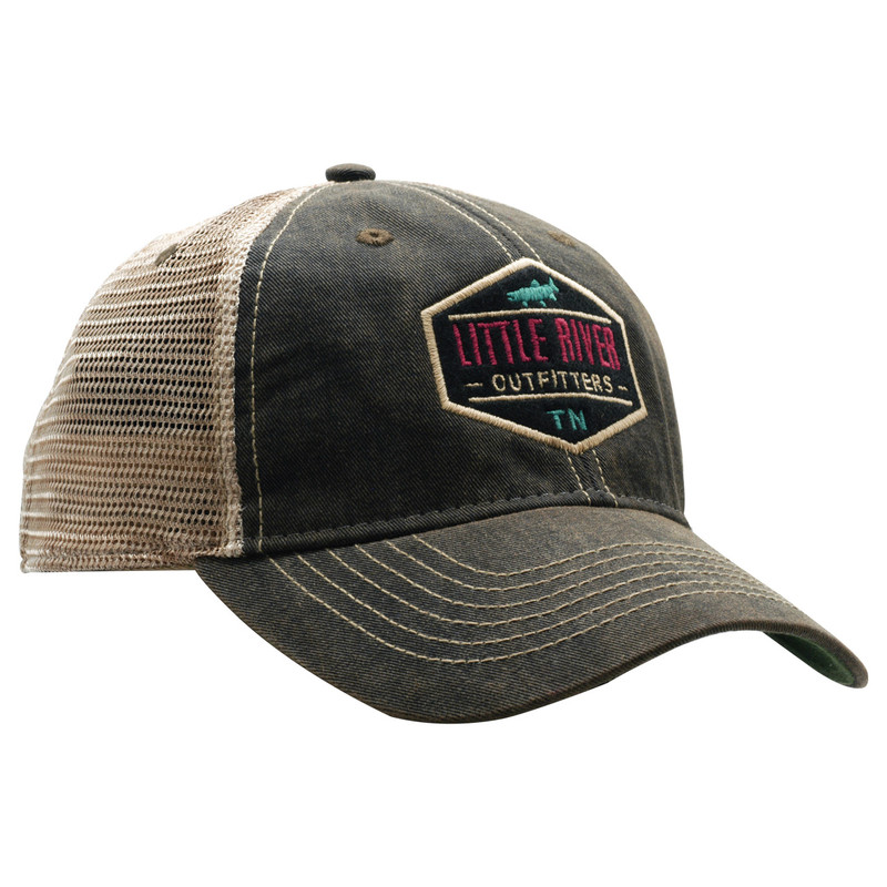 LRO Favorite Black Trucker Cap Front and Side View