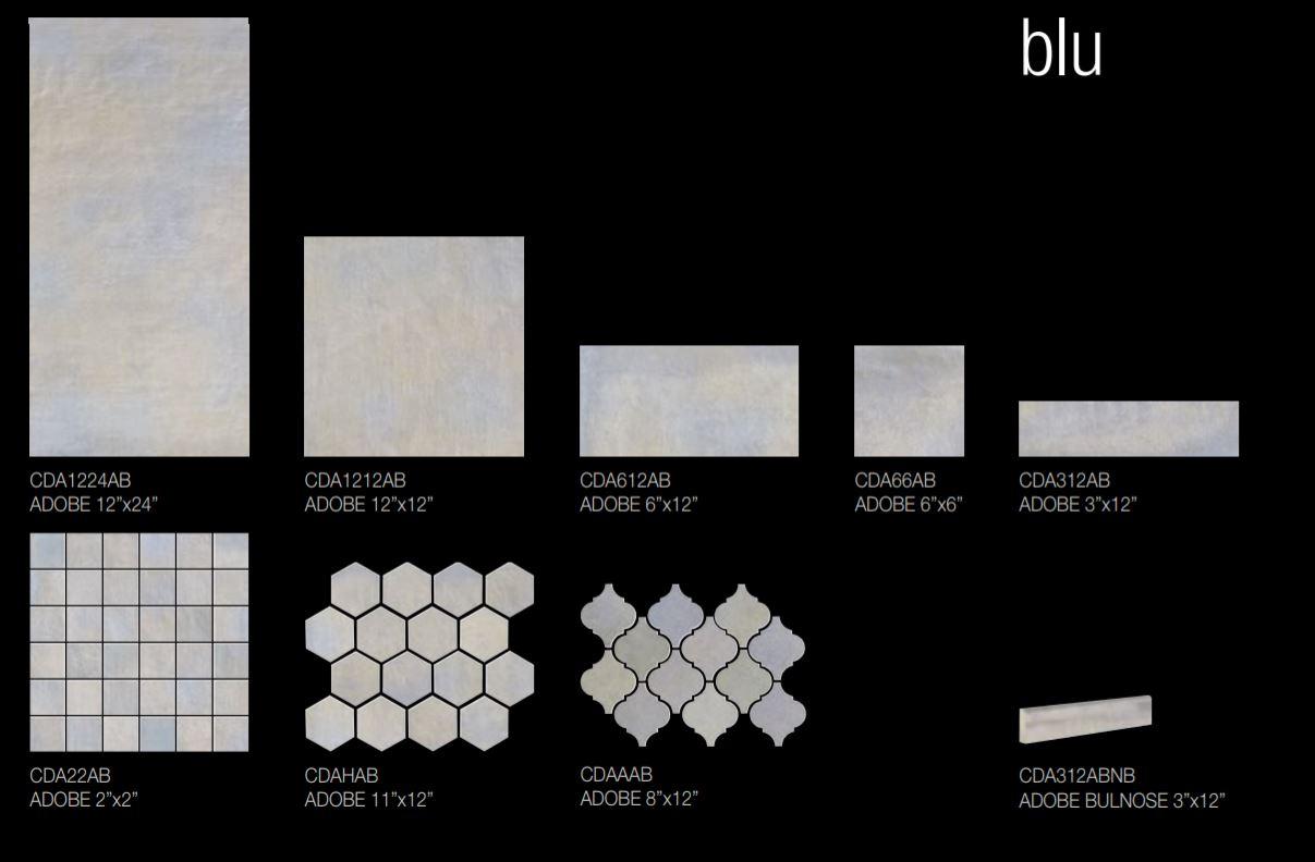 Adobe Blu Size Options