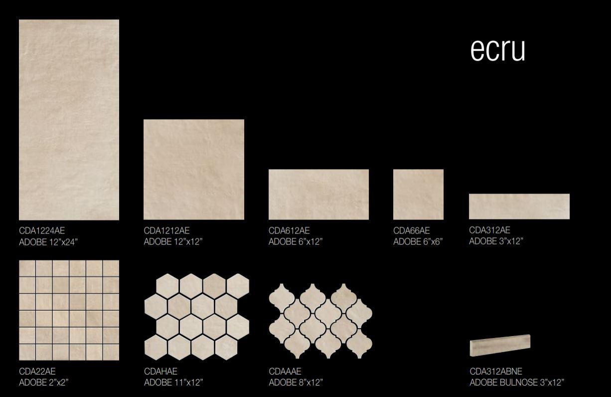 Adobe Ecru Size Options