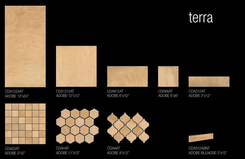 Adobe Terra Size Options