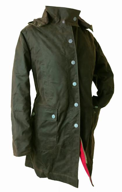 Titania Women's 3/4 Wax Coat with Hood