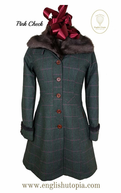 Emily Knee length tweed coat