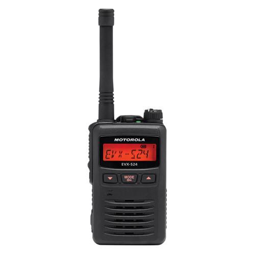 EVX-S24 Portable Digital Two-Way Radio   Black