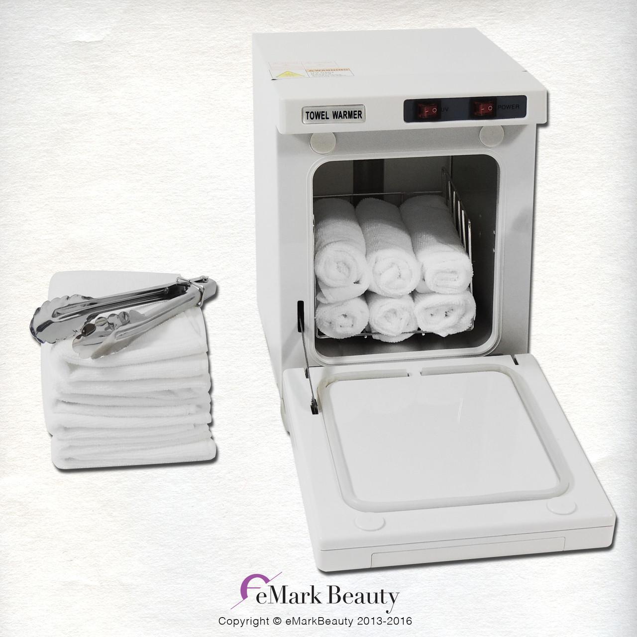 Mini Hot Towel Warmer Cabinet UV Sterilizer 12 Free Towels Facial Nail Spa  Beauty Salon Equipment ...
