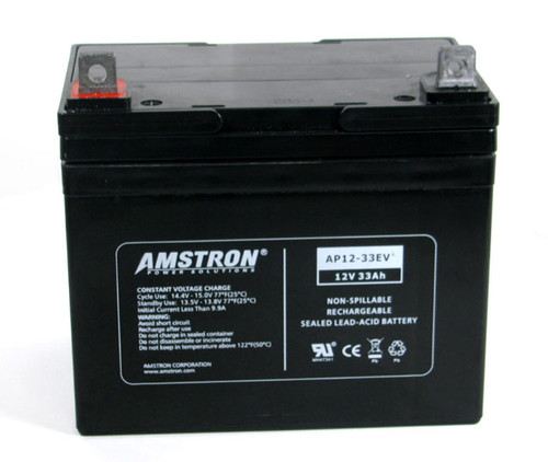 ap12 33dg amstron 12v 33ah deep cycle gel cell battery w nb