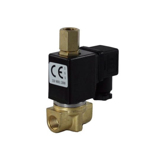 1/4\'\' 3-Way 110V AC Electric Solenoid Valve Air-Water-Gas-Pneumatic