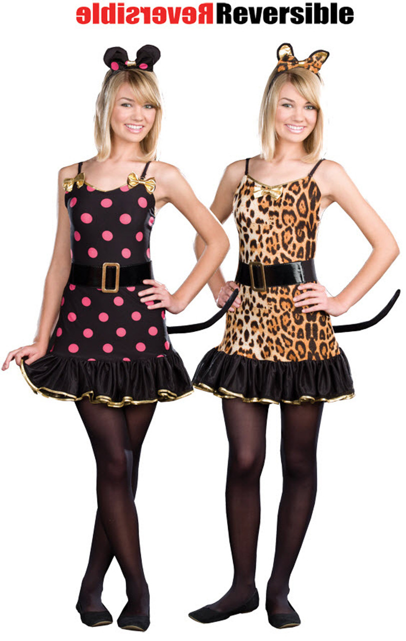 teen cat and mouse costume