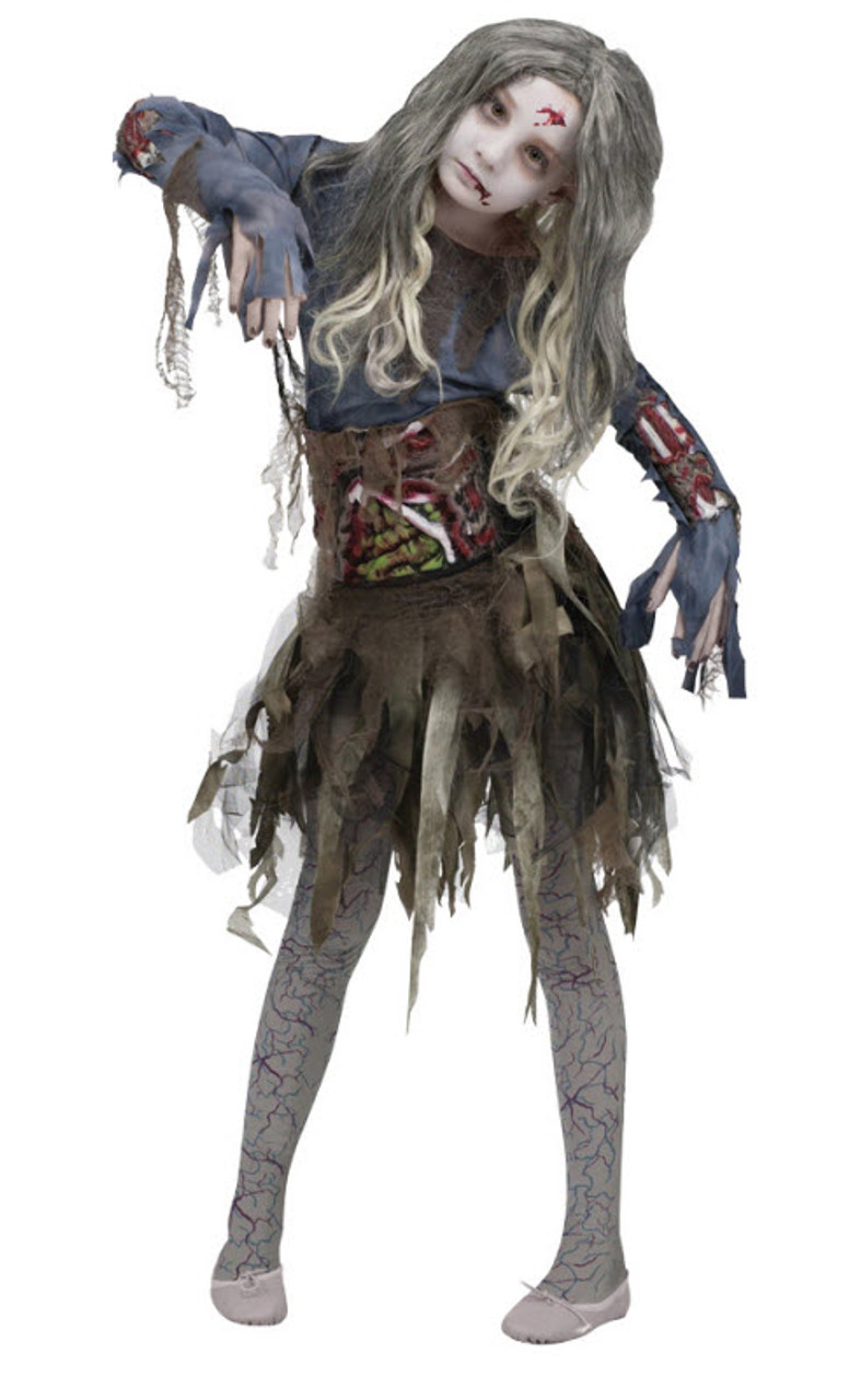 Girlu0027s Zombie Costume FW114532  sc 1 st  Halloween Express : zombie costums  - Germanpascual.Com