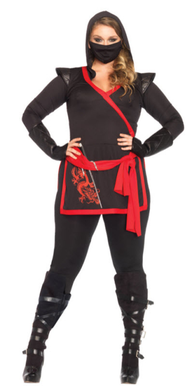 womens plus size ninja assassin costume