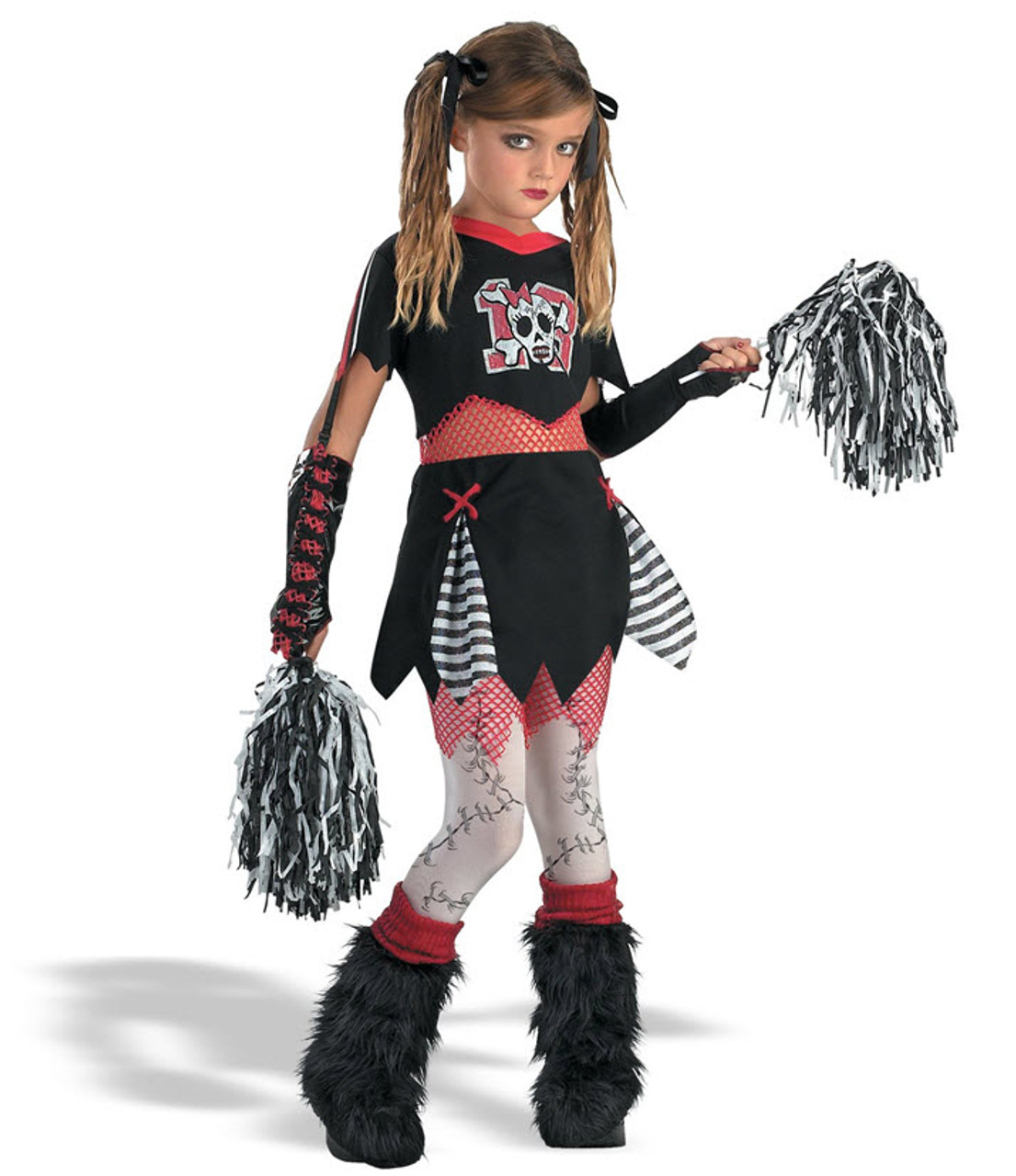 Girlu0027s Gothic Cheerleader Costume  sc 1 st  Halloween Express : monster cheerleader costume  - Germanpascual.Com