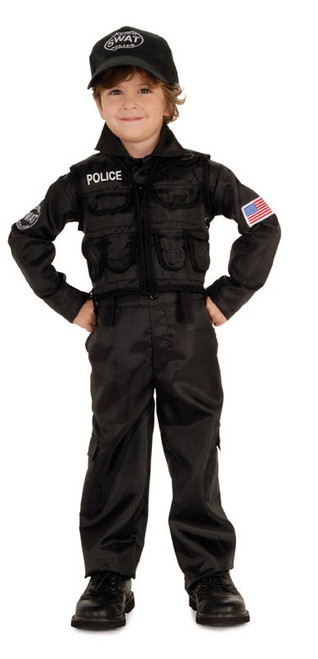 Boyu0027s Policeman Swat Costume  sc 1 st  Halloween Express & Military and Law Enforcement Halloween Costumes for Kids