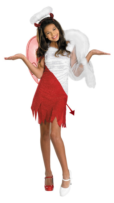 girls angel devil costume