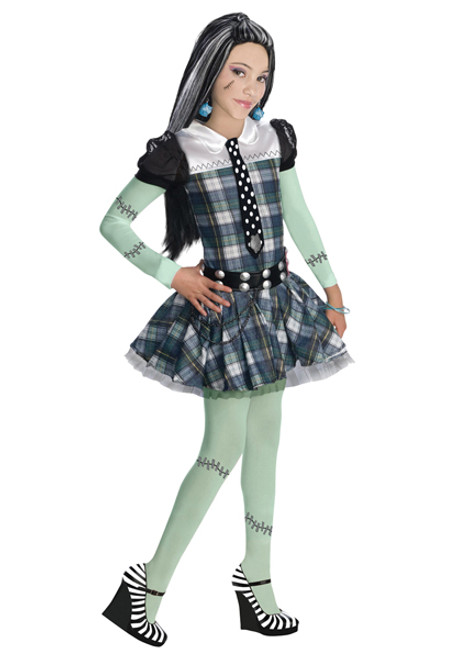 Girlu0027s Monster High Frankie Stein Costume  sc 1 st  Halloween Express & Monster High Costumes u0026 Accessories