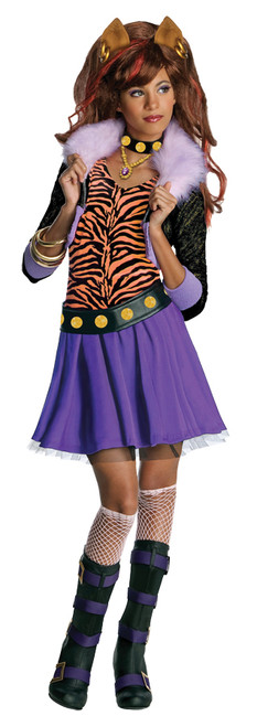 Girlu0027s Monster High Clawdeen Wolf Costume  sc 1 st  Halloween Express & Monster High Costumes u0026 Accessories