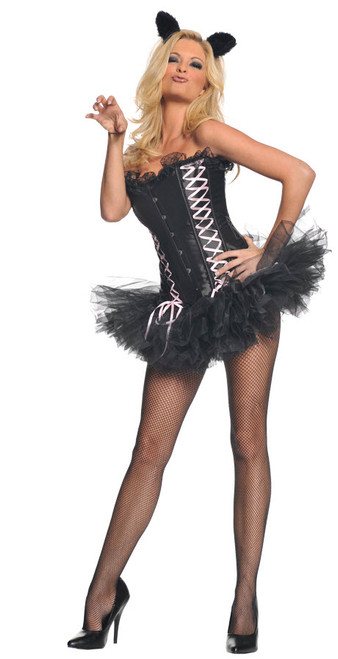 Womens Sexy Kitty Costume - Halloween Express-4074