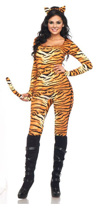 Womenu0027s Tiger Costume  sc 1 st  Halloween Express & Sexy Cat and Kitty Costumes for Women