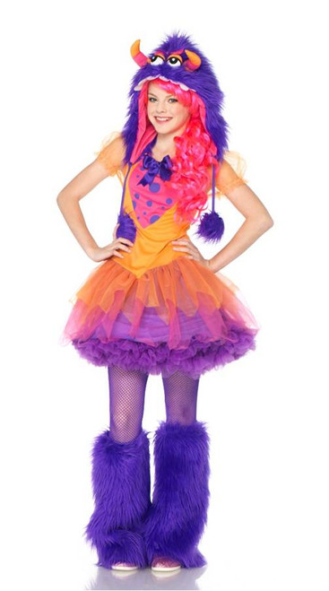 Girlu0027s Frankie Monster Costume  sc 1 st  Halloween Express : junior halloween costumes  - Germanpascual.Com