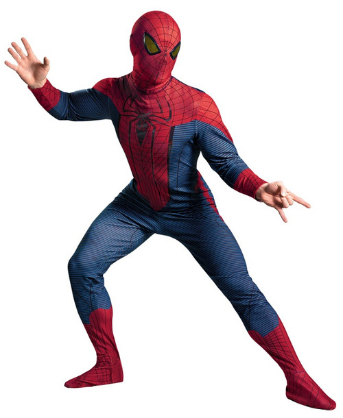 Menu0027s Spider-Man Movie Costume  sc 1 st  Halloween Express & The Amazing Spider-Man Costumes and Accessories