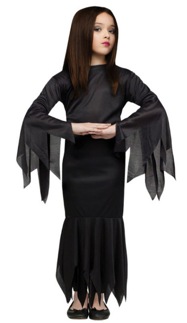 Girlu0027s Morticia Costume  sc 1 st  Halloween Express & The Addams Family is back! Uncle Fester Morticia Gomez Wednesday ...