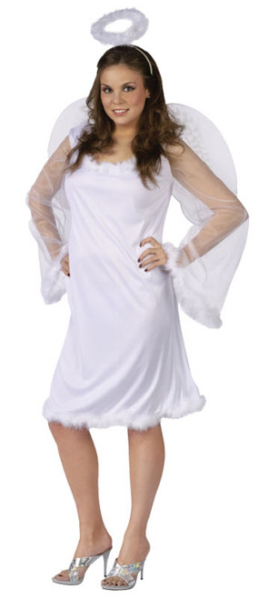 Womenu0027s Angel Costume FW110555  sc 1 st  Halloween Express & Plus Size Angel and Fairy Costumes