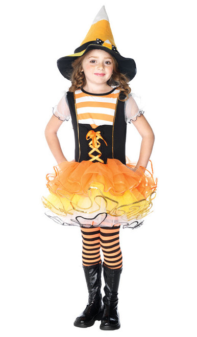 Girlu0027s Candy Corn Costume UAC48159  sc 1 st  Halloween Express & Witch Costumes for Kids