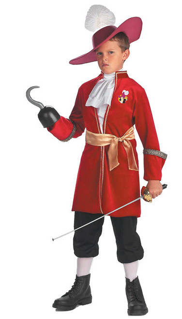 Boyu0027s Captain Hook Costume DG5966  sc 1 st  Halloween Express : cheap pirate halloween costumes  - Germanpascual.Com