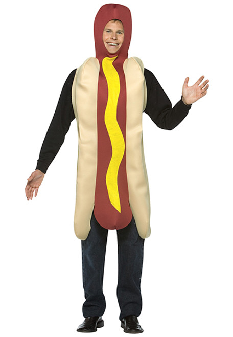 Adult Hot Dog Costume GC304  sc 1 st  Halloween Express & Adult Happy Dog Costume - Halloween Express