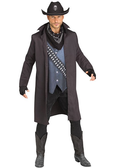Adult Evil Outlaw Costume  sc 1 st  Halloween Express & Family Friendly Western Costumes