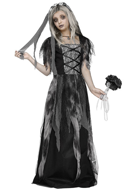 girls cemetery bride costume