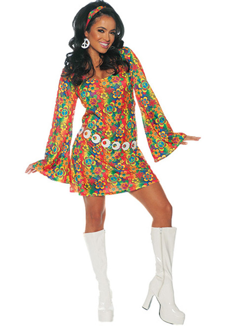 Womenu0027s Summer Hippie Costume  sc 1 st  Halloween Express & Hippies u0026 Go Go Costumes for Women