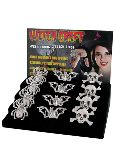 24 Pack Witch Rings  sc 1 st  Halloween Express : witch costume jewelry  - Germanpascual.Com