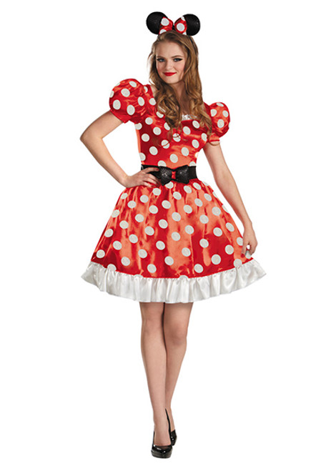 Womenu0027s Minnie Mouse Costume DG58791  sc 1 st  Halloween Express & Adult Disney Halloween Costumes for Men and Women.