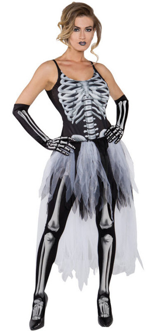 Womenu0027s Sexy Skeleton Costume UR29617  sc 1 st  Halloween Express : skeleton costumes female - Germanpascual.Com
