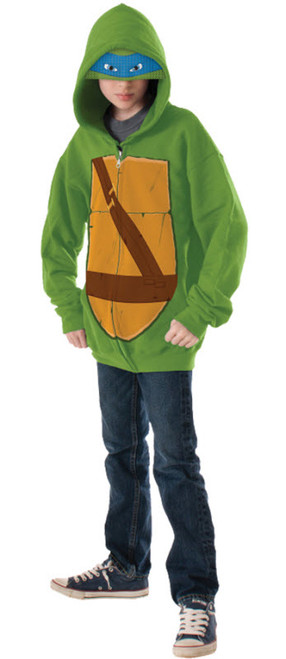 Boyu0027s Leonardo Hoodie  sc 1 st  Halloween Express & TMNT Halloween Costumes for Kids