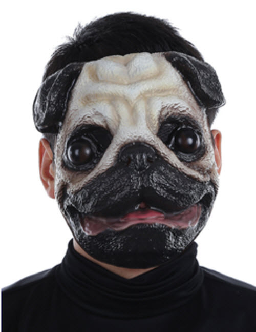 adult fuzzy face pug mask